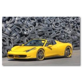 Αφίσα (Novitec, Ferrari 458, κίτρινος)